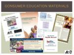 consumer education materials