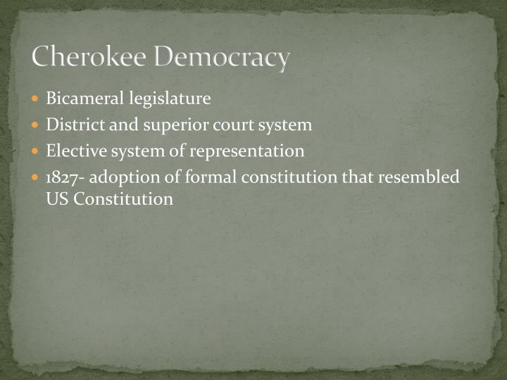 Cherokee Democracy