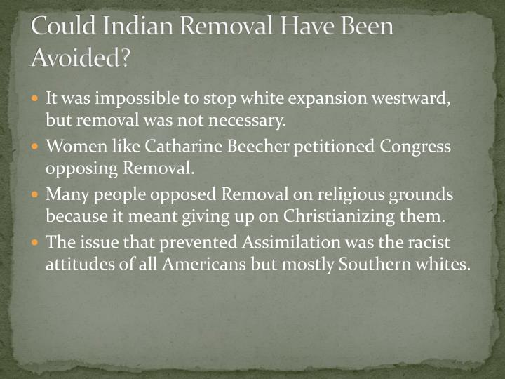 Could Indian Removal Have Been Avoided?