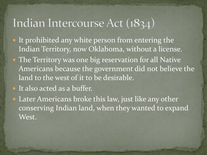 Indian Intercourse Act (1834)
