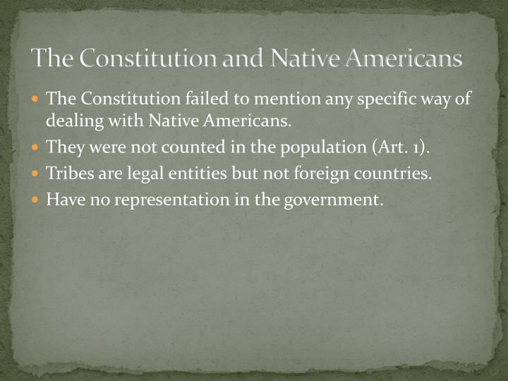 The Constitution and Native Americans