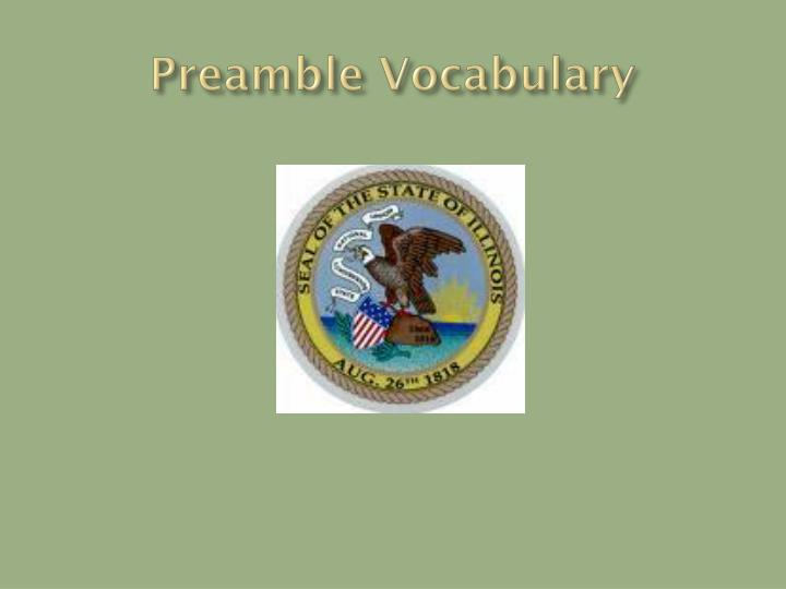 preamble vocabulary n.