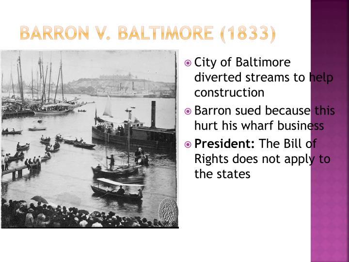 barron v baltimore 1833