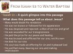 from isaiah 53 to water baptism