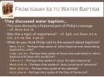 from isaiah 53 to water baptism1
