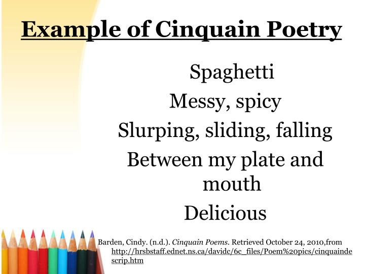 example-of-cinquain-poetry-n Three Word Form Poems Examples on funny couplet, funny limerick,