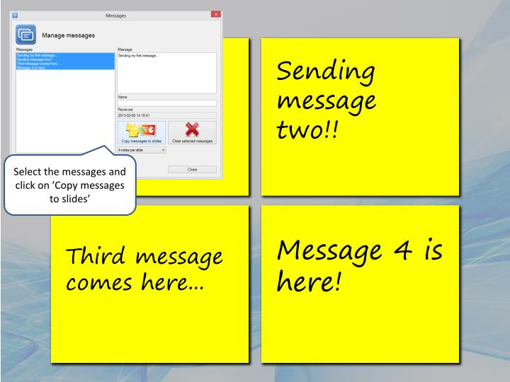 Sending my first message...