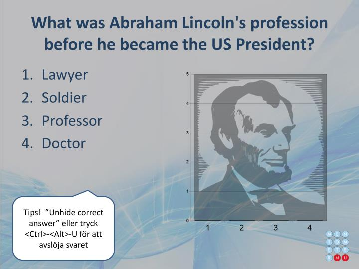What was Abraham Lincoln's profession before he became the US President?