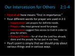 our intercession for others 2 1 4