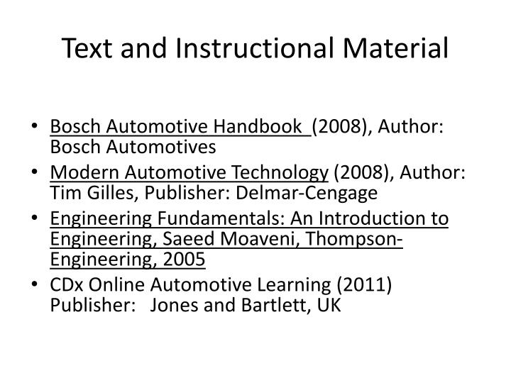 Text and Instructional Material