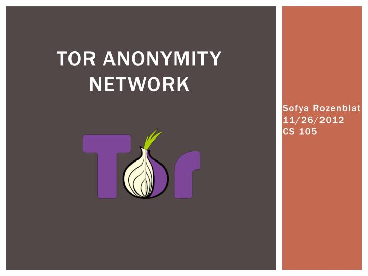 tor anonymity network n.