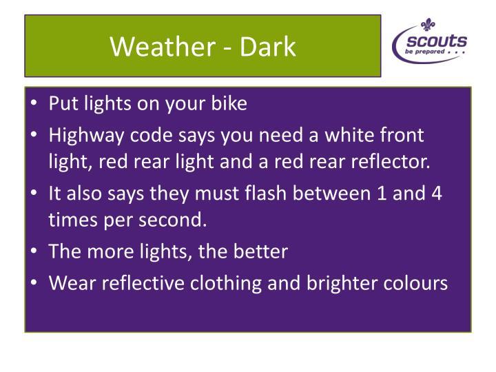 Weather dark