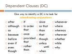 dependent clauses dc