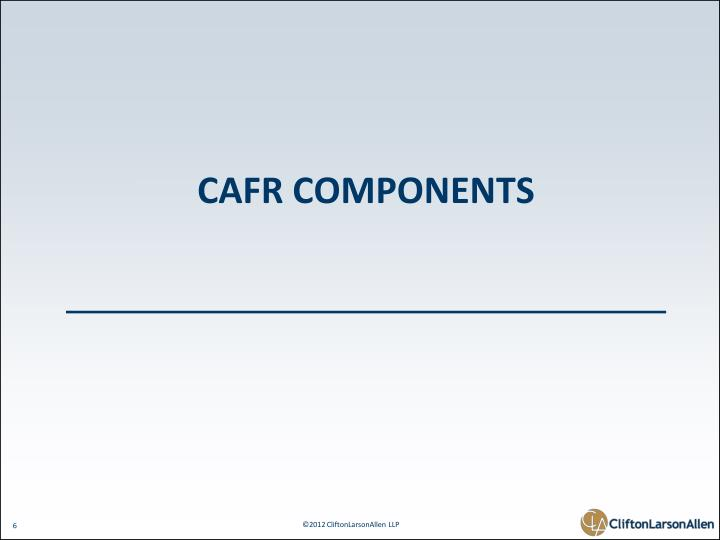 CAFR Components