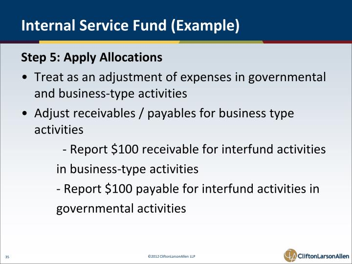Internal Service Fund (Example)