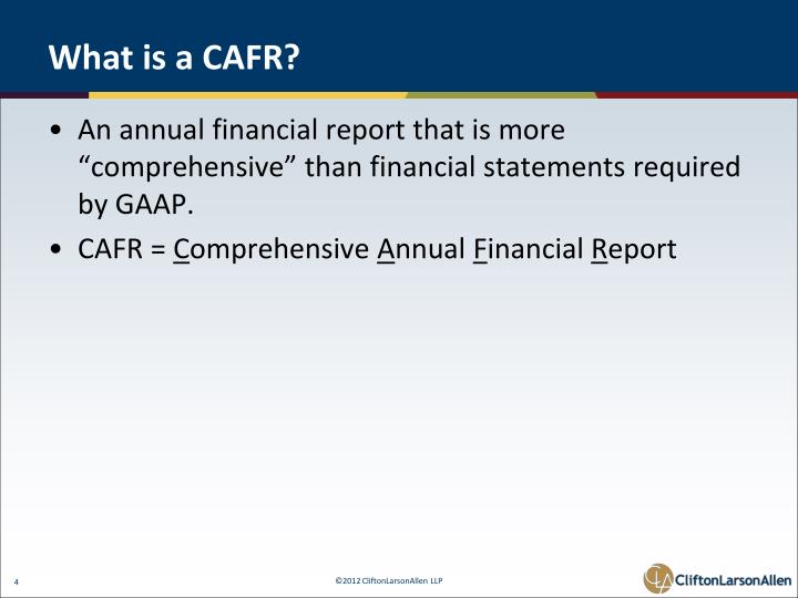 What is a CAFR?