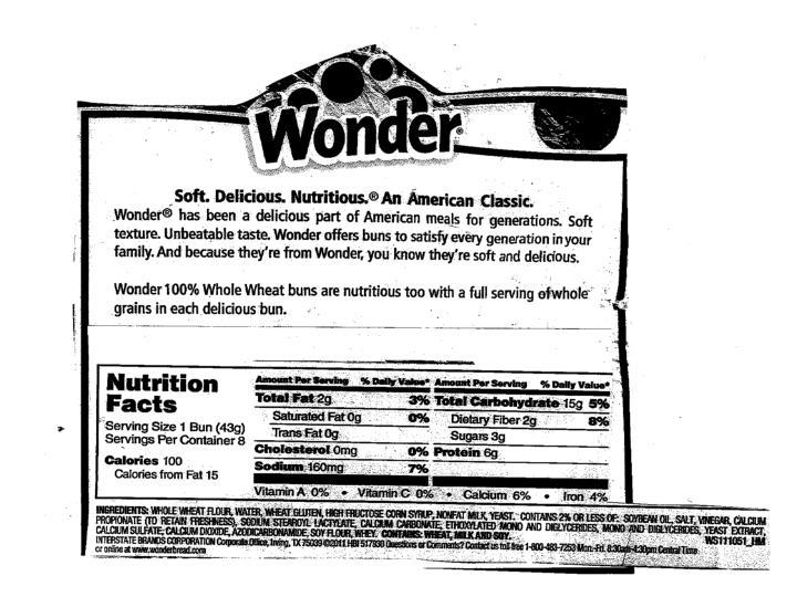 Wonder Hamburger Bun