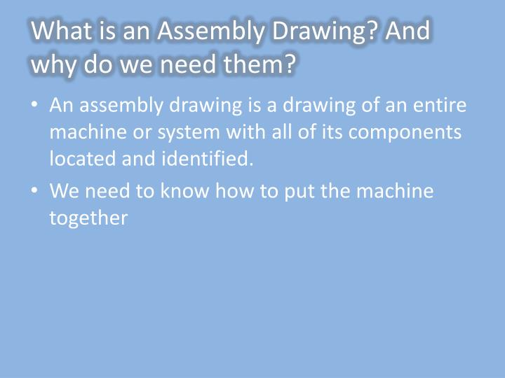 What is an Assembly Drawing? And why do we need them?