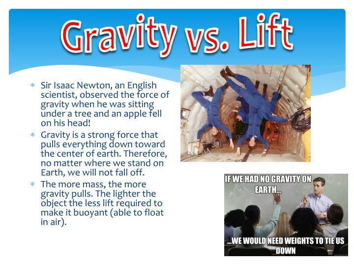 Gravity vs. Lift