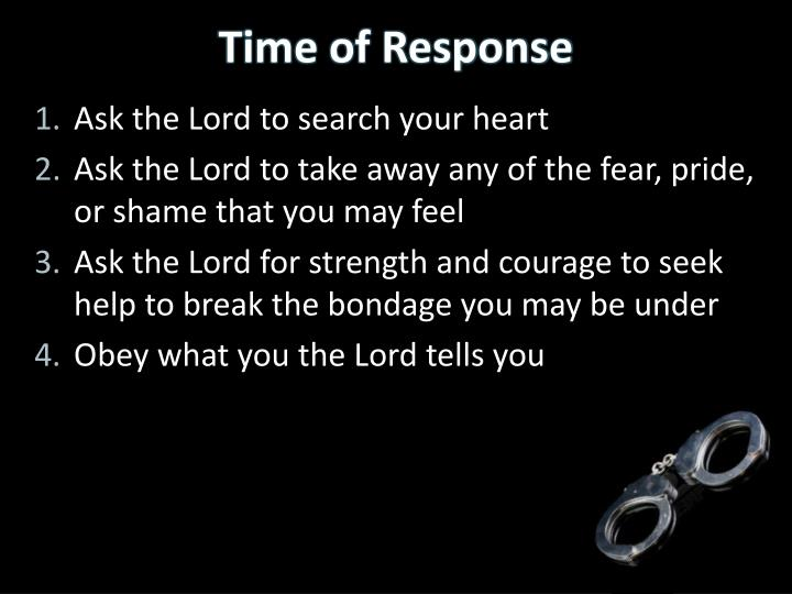 Ask the Lord to search your heart