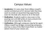 campus values