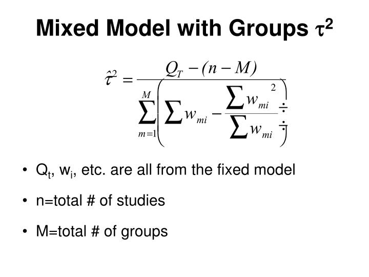 Mixed Model with Groups