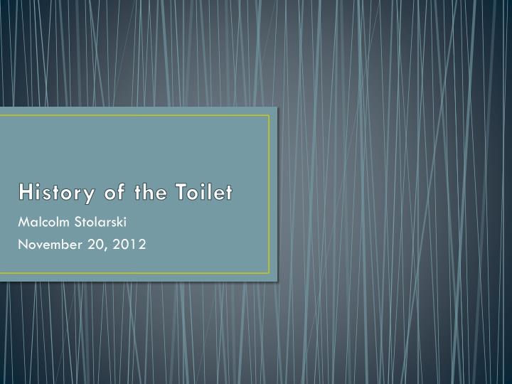 history of the toilet n.