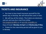 tickets and insurance