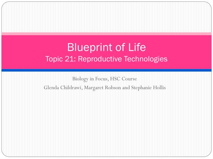 Ppt blueprint of life topic 21 reproductive technologies blueprint of lifetopic 21 reproductive technologies malvernweather Images