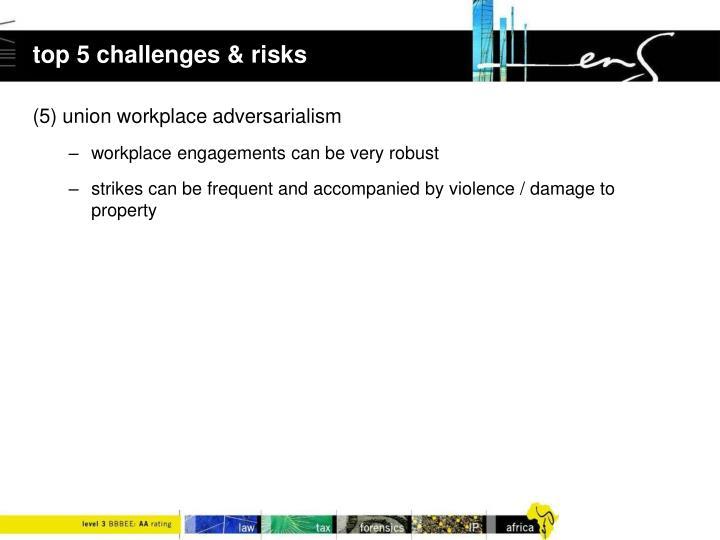 top 5 challenges & risks