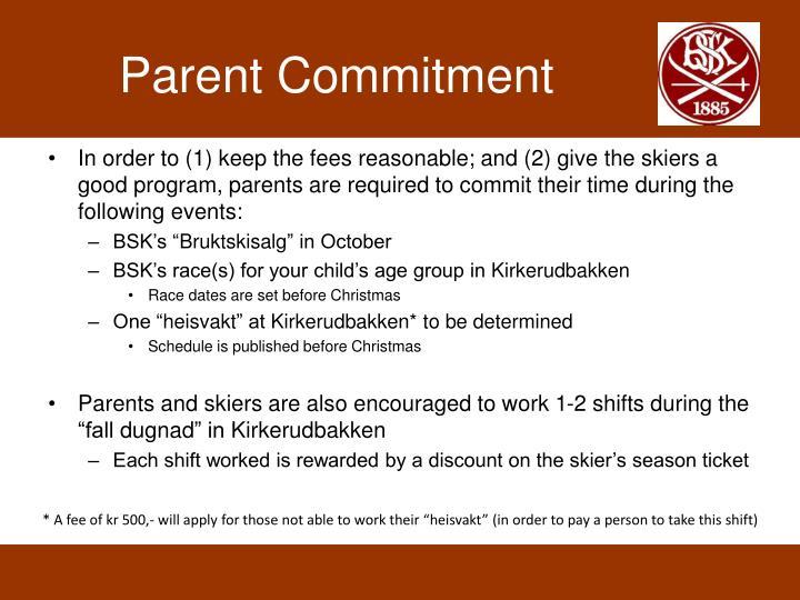 Parent Commitment
