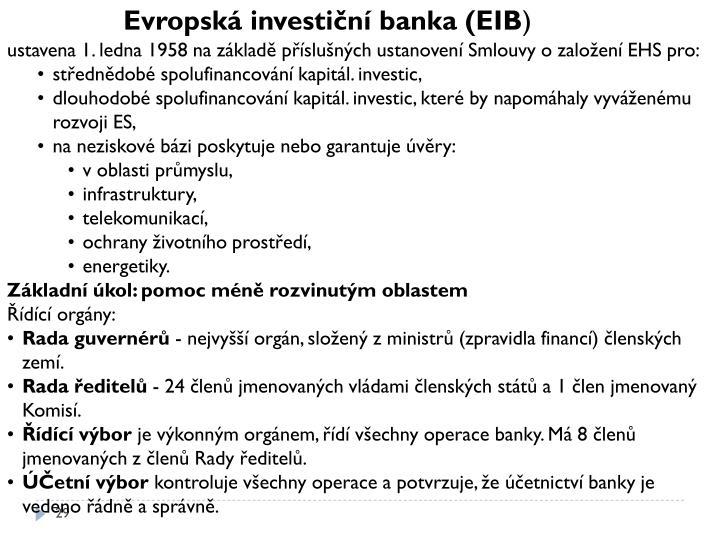 Evropská investiční banka (EIB