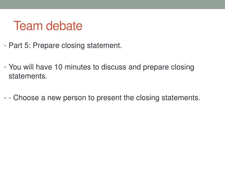 Team debate