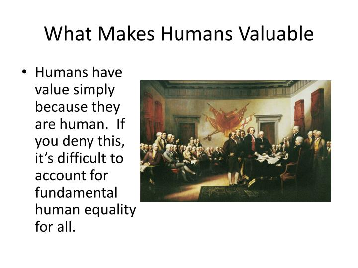 What Makes Humans Valuable