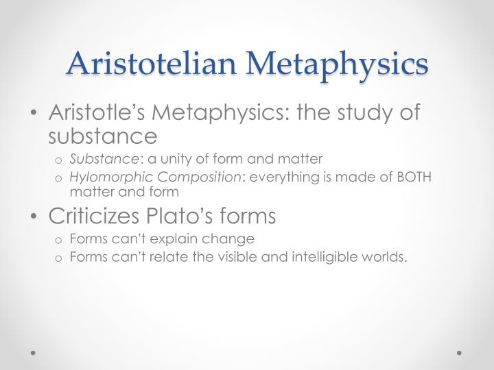Aristotelian Metaphysics