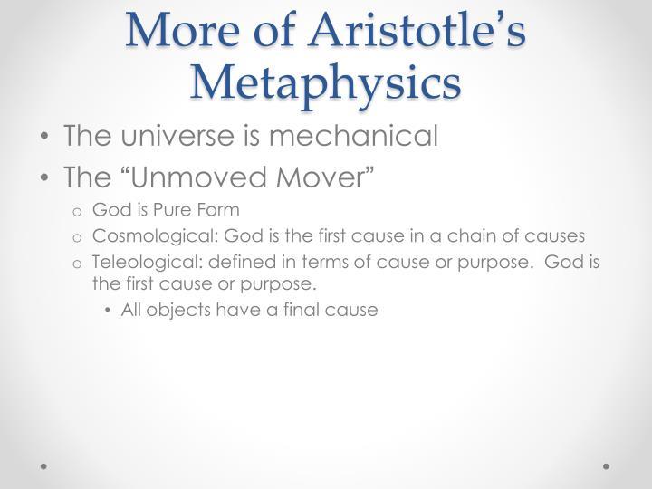 More of Aristotle
