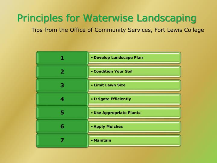 Principles for Waterwise Landscaping