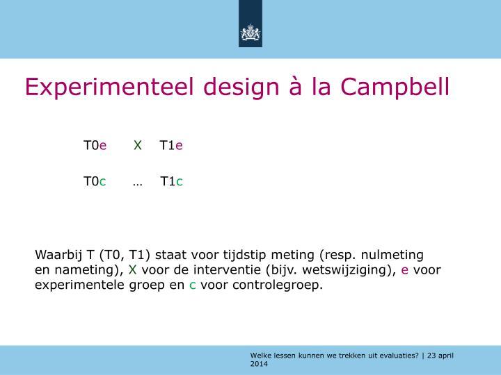 Experimenteel design à la Campbell