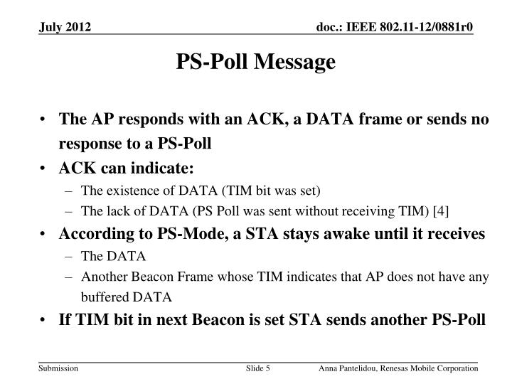PS-Poll Message