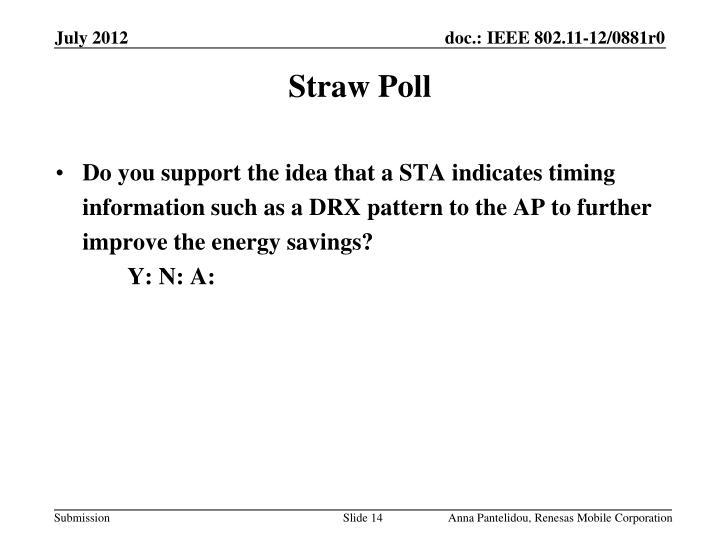 Straw Poll