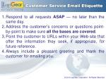 customer service email etiquette