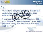 etiquette if then