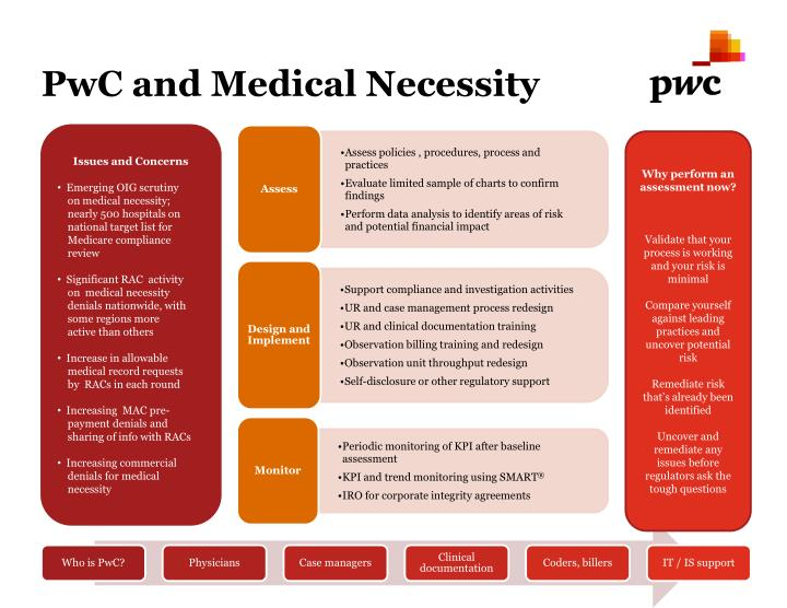 PPT - PwC and Medical Necessity PowerPoint Presentation - ID