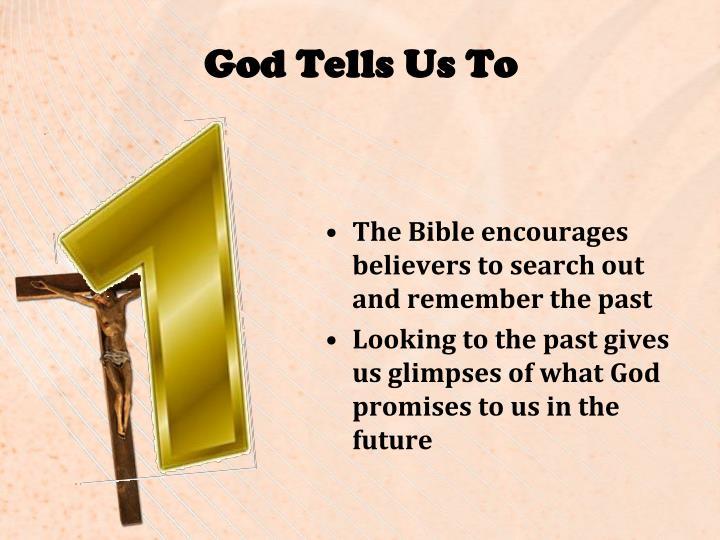 God Tells Us To
