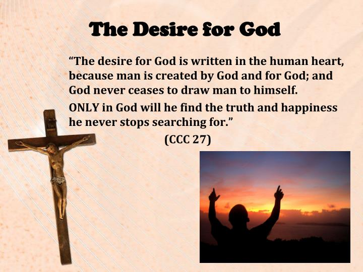 The Desire for God