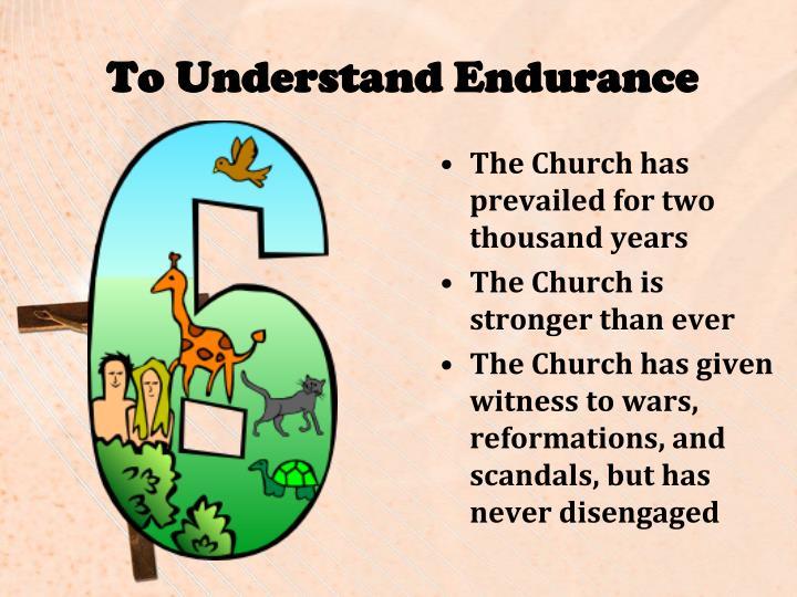 To Understand Endurance