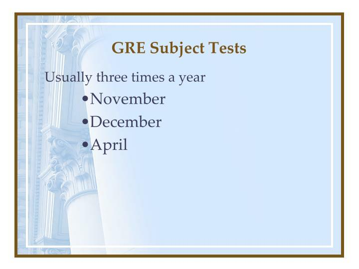 GRE Subject Tests