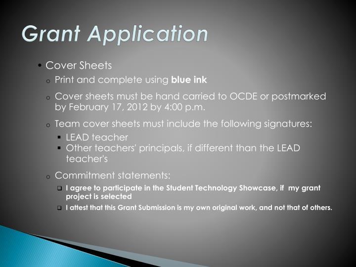 Grant Application