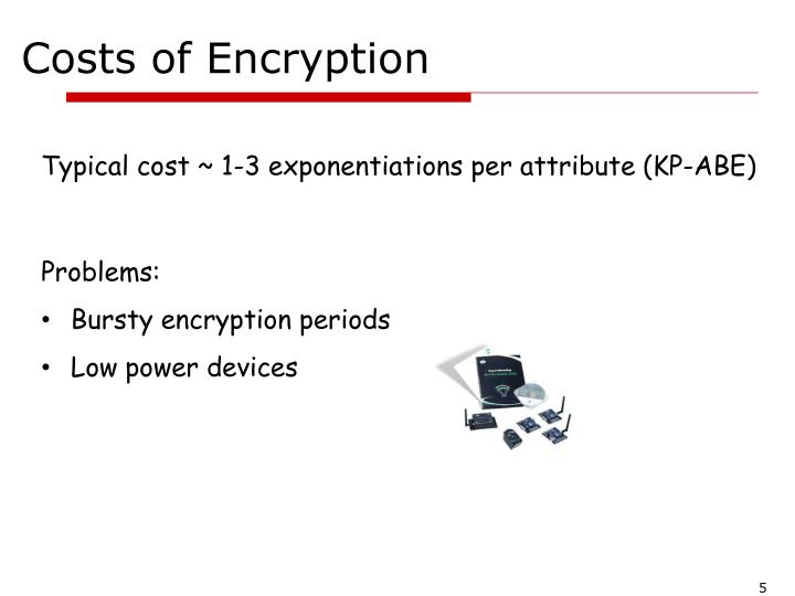 Costs of Encryption