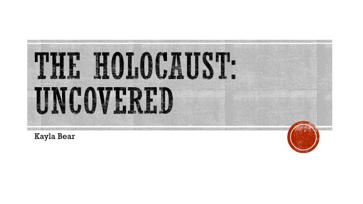 the holocaust uncovered n.
